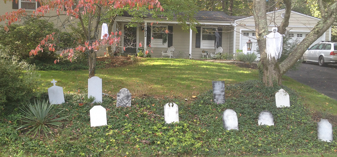 Tombstones at the Hill House of Horror