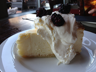 Cheesecake at Sugo Cicchetti
