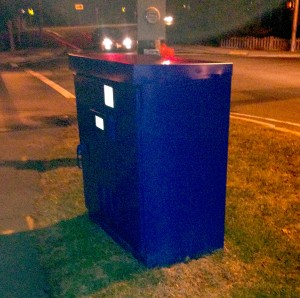 Blue Utility Box at Wilson and Bradley