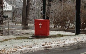 Red Utility Box on Bradley and Fernwood in Bethesda