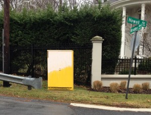 Yellow Utility Box at Howell and Bradley