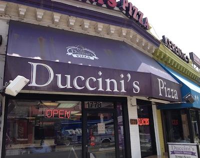 Duccini's Pizza Storefront