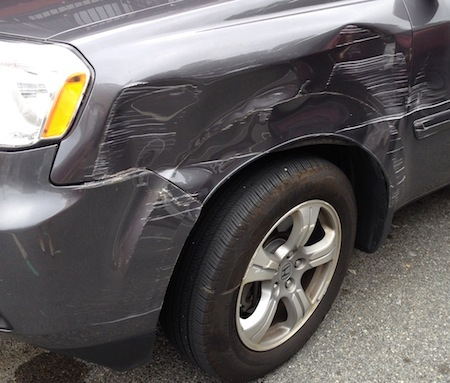 damage to my new truck
