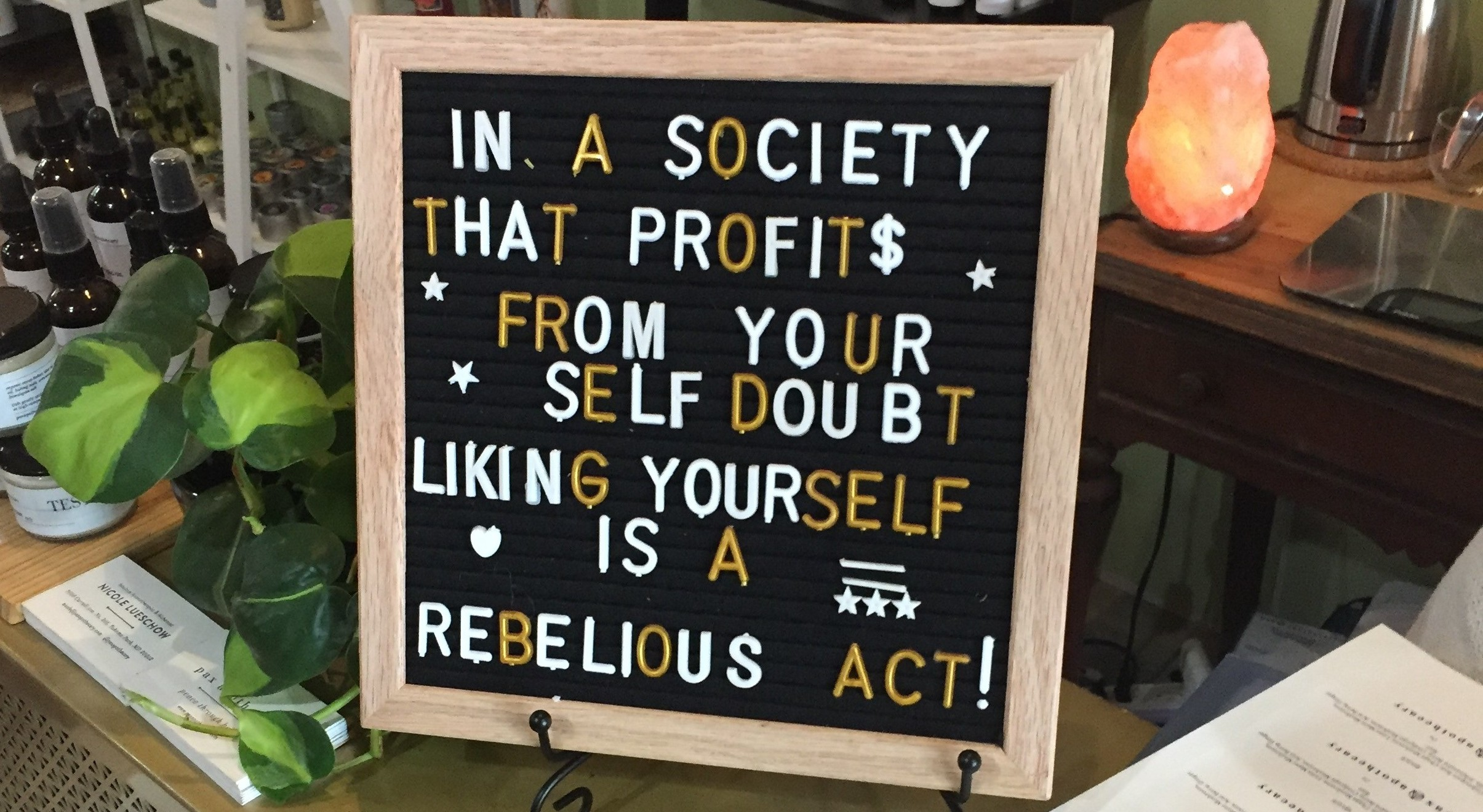 Sign at PAX Apothecary at Femme Fatale DC in Tenleytown 2018